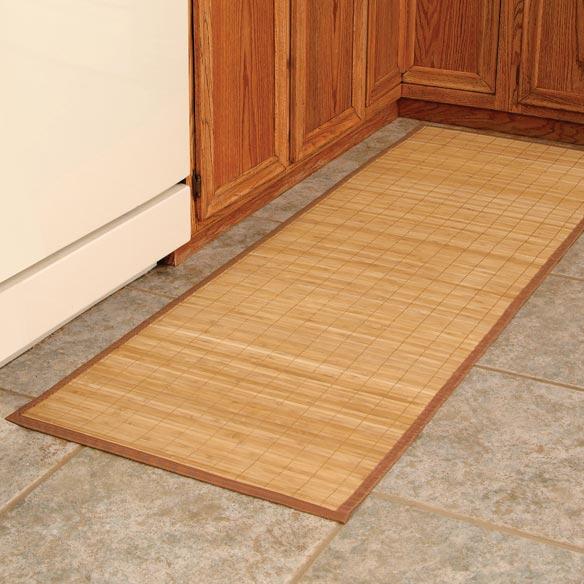 Bamboo Floor Mat Large Bamboo Mat Walter Drake