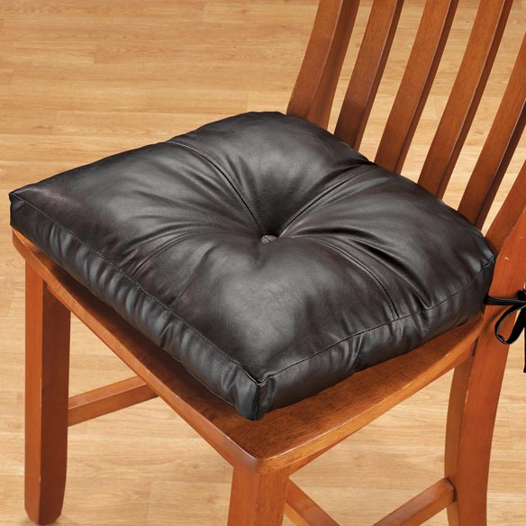 Chair Cushions For Kitchen Chairs: Faux Leather Chair Pad