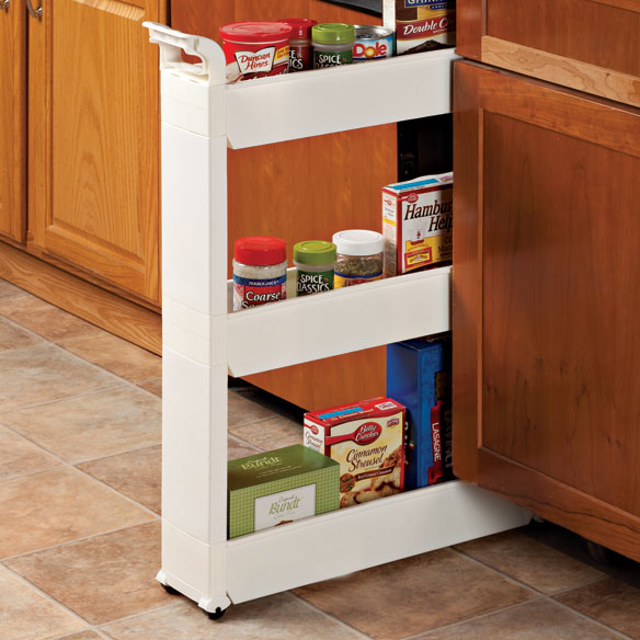 Pantry Cabinet On Wheels: Slim Storage Cart