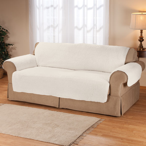 Sherpa sofa protector by oakridge couch cover walter drake for Sectional furniture protector