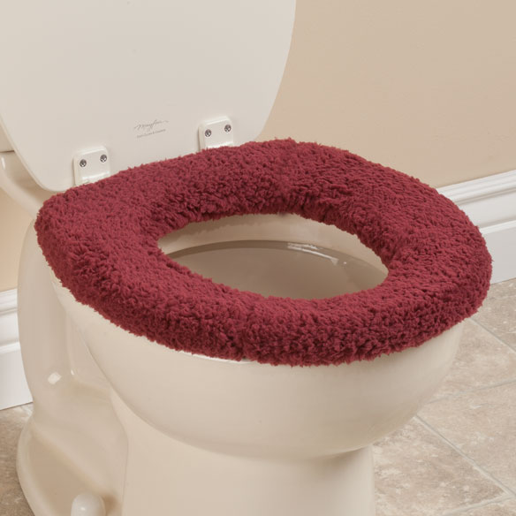 Sherpa Toilet Seat Cover Cushioned Toilet Seat Walter
