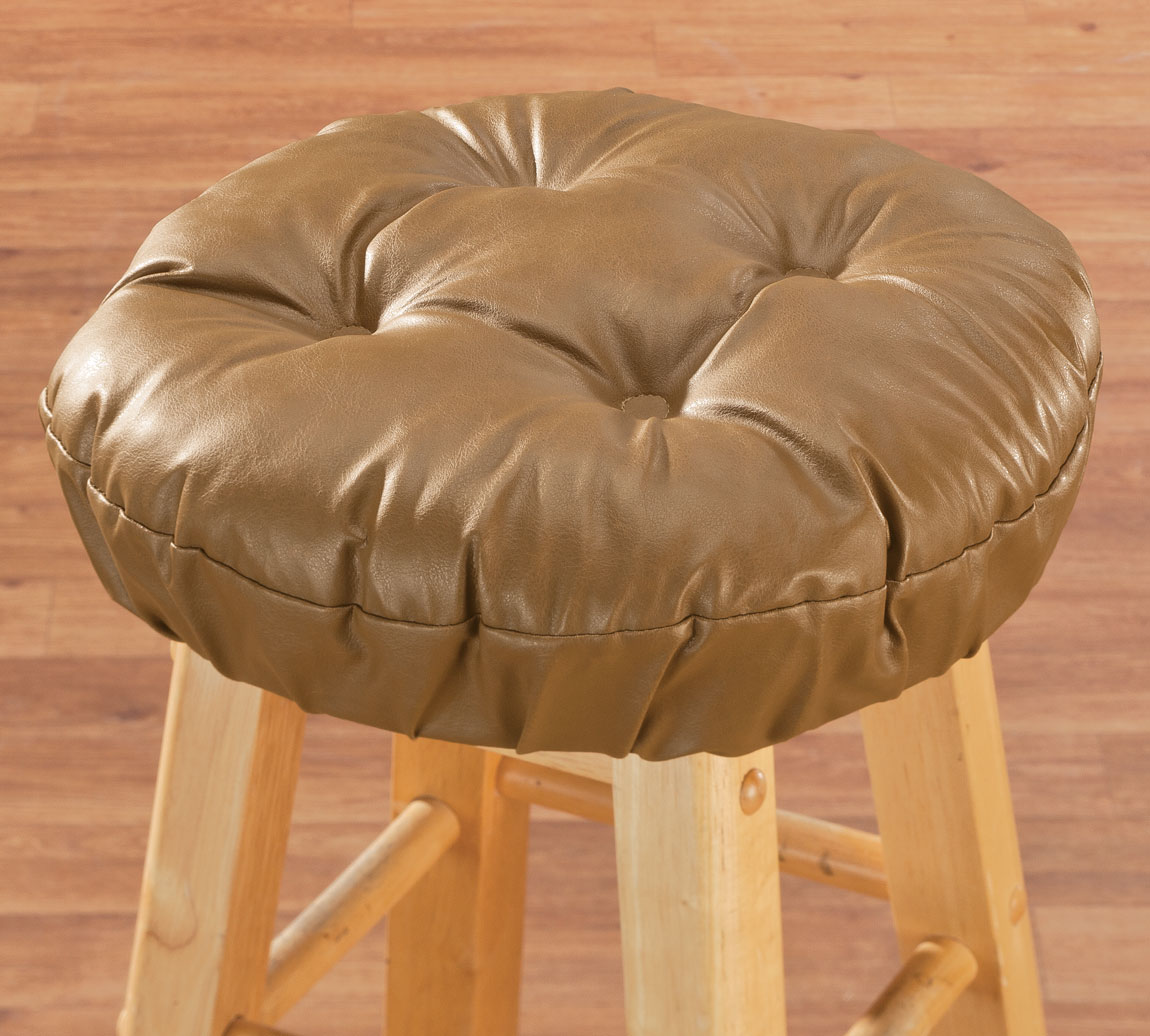 Faux Leather Tufted Bar Stool Cushion eBay : wbg3476081camel from www.ebay.co.uk size 1150 x 1036 jpeg 166kB