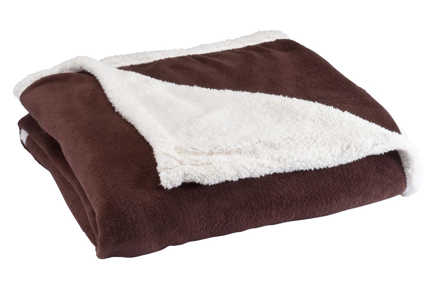 Ultra plush microfiber sherpa throw by oakridgetm ebay for Sherpa blanket