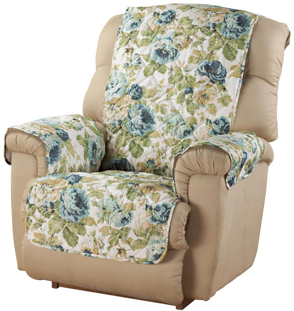English Floral Microfiber Recliner Cover Ebay