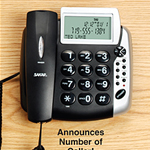 Home Entertainment - Talking Caller ID Corded Phone