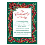 Top Reviews - My Christmas List Religious Christmas Card Set of 20