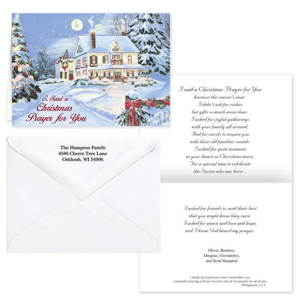 I Said A Christmas Prayer Religious Christmas Card Set of 20 - View 1