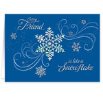 Christmas Cards - Personalized Snowflake Christmas Cards