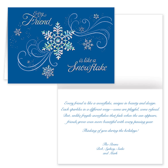 Personalized Snowflake Christmas Cards - View 1