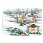 Christmas Cards - Personalized God Bless America Christmas Card Set of 20