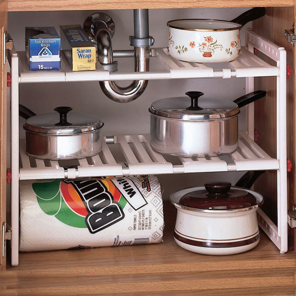 Under Sink Expandable Shelf - View 1
