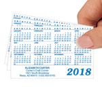 Labels & Stationery - Glossy Personalized Plastic Calendars - Set of 50