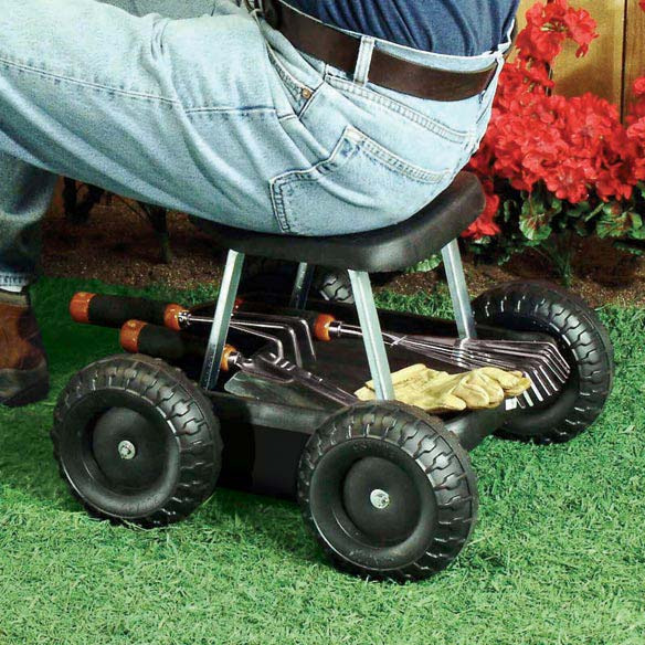 Garden Scooter Garden Seat On Wheels Outdoor Walter Drake