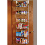 Small Space Solutions - Over The Door Metal Storage Rack