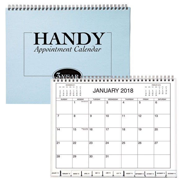 3 Year Monthly Appointment Calendar