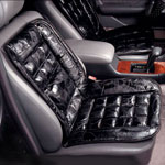 Outdoor - Leather Lumbar Cushion For Car