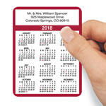 Labels & Stationery - Personalized Self Stick Calendars - Set Of 100