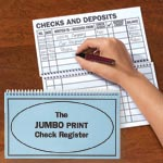 Web Exclusives - Large Print Check Register