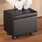 Accent Furniture - Flip Top Storage Ottoman by OakRidge™ Accents