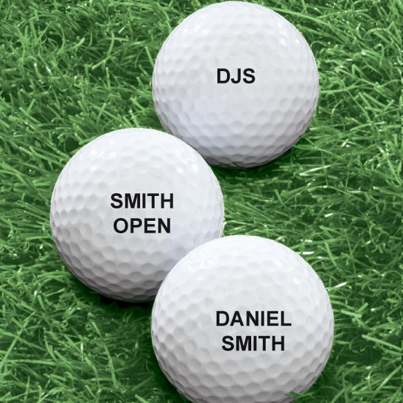 Personalized Golf Balls - Set of 6