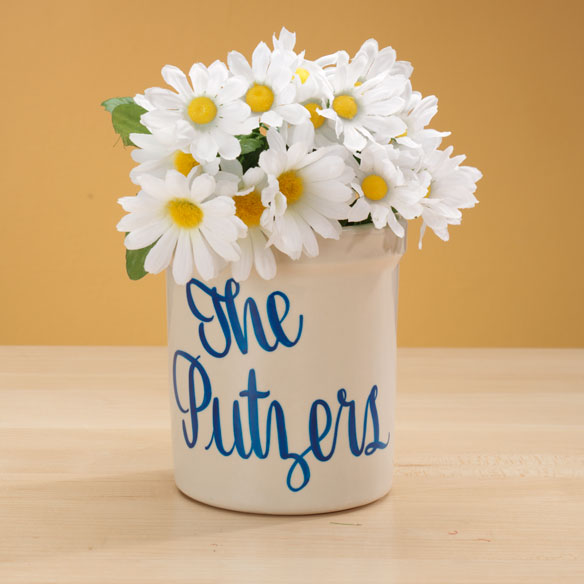 Personalized Stoneware Crock - 1 Qt - View 1