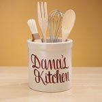 Organization & Decor - Personalized Stoneware Crock - 2 Qt.