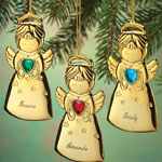 Decorations & Storage - Personalized Angel Christmas Ornament
