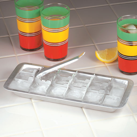 Aluminum Ice Cube Tray Metal Ice Trays With Lever