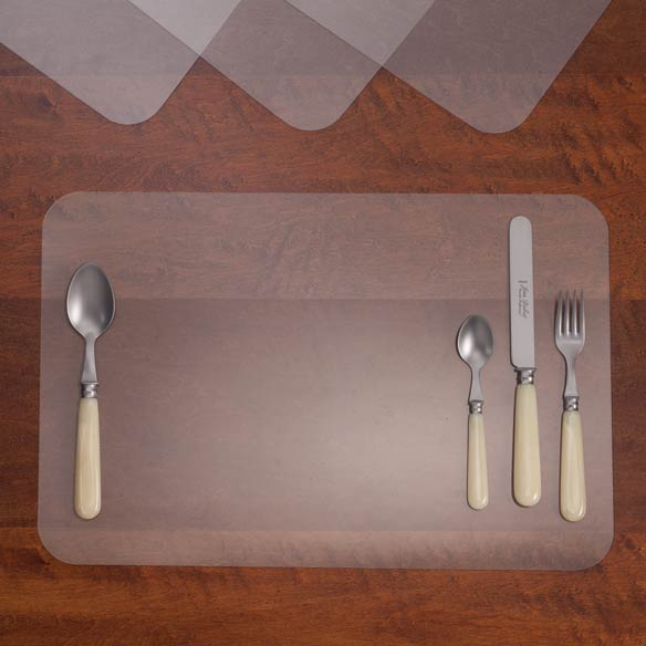 Clear Plastic Placemats Clear Placemats Placemats Walter Drake - Clear placemats for table