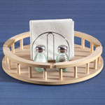 Organization & Decor - Large Wood Lazy Susan