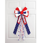 Decorations & Storage - Stars and Stripes Bow