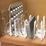 Small Space Solutions - Adjustable Bakeware Organizer