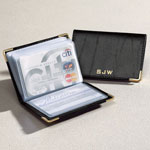 Safe Holiday Travel - Personalized Leather Credit Card Holder