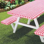 Outdoor Entertaining - Checked Picnic Table Cover