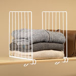 Small Space Solutions - White Wire Closet Shelf Dividers