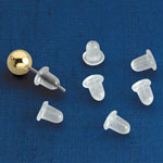 Clear Bullet Earring Backs - Set of 12
