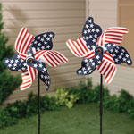 Outdoor - Patriotic Pinwheel - Set of 2