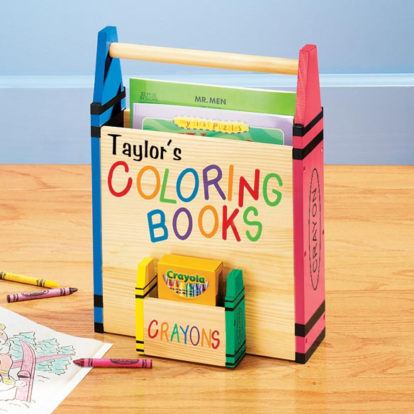 personalized coloring book holder zoom