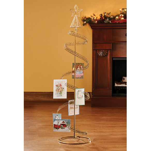 Spiral Tree Card Holder - Christmas Card Tree Holder - Walter Drake