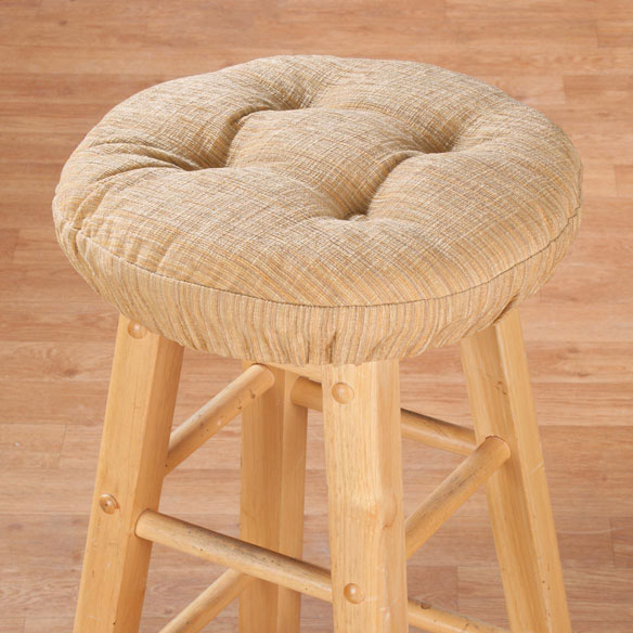 Chenille Round Bar Stool Cushion - View 1
