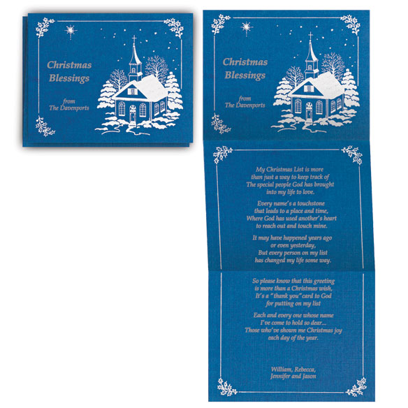 Personalized Religious Christmas Cards - View 1