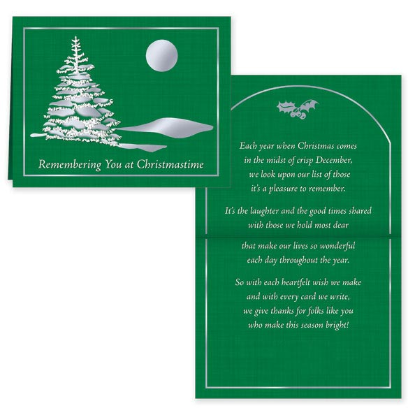 Remembering You Personalized Christmas Cards - Set of 20 - View 1