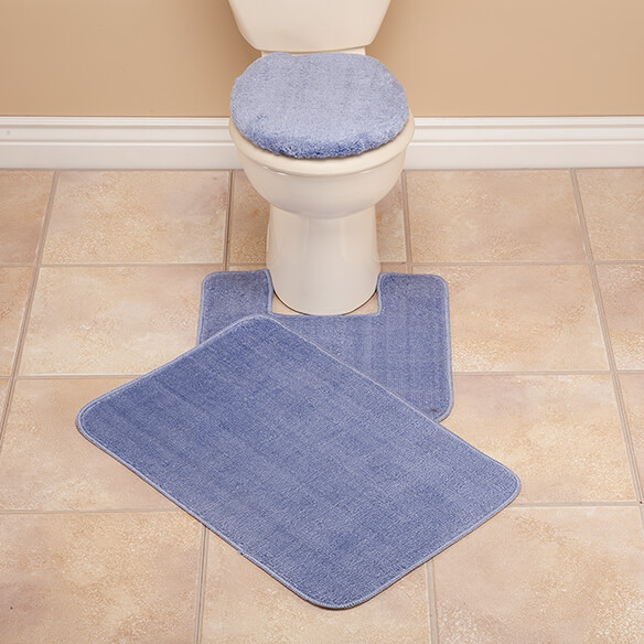 Plush Bath Rug Set  View 1 Toilet Seat Cover And Walter Drake