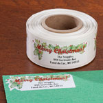 Personalized Labels - Merry Christmas Labels - Set of 150