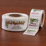 Personalized Labels - Merry Christmas Labels And Seals Set