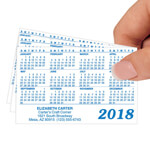 Labels & Stationery - Matte Personalized Plastic Calendars - Set of 50