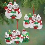 Decorations & Storage - Personalized Snow Family Ornament