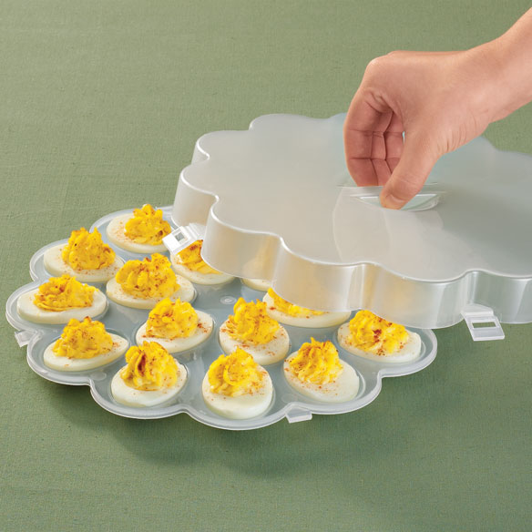 Deviled Egg Tray With Lid Zoom