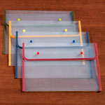 Labels & Stationery - Fabric Edged Clear Plastic Envelopes