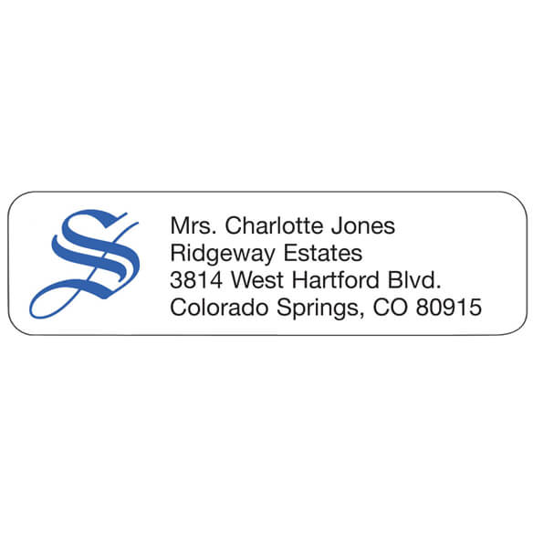Ornate Initial Personalized Address Labels - View 1
